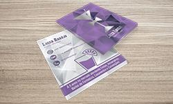 Cartão Duplo Verniz Localizado e Hot Stamping