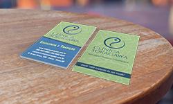 Cartão de Visita com Verniz Localizado e Hot Stamping