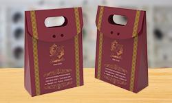 Mini Embalagem de Presente Verniz Localizado e Hot Stamping