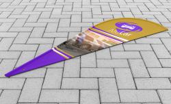 Bandeira para Wind Banner Modelo Gota