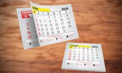 Bloco de Calendário para Ímã 2020